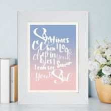 Favourite Song Lyrics Framed Print
